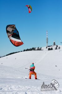 Snowkiten in Duitsland