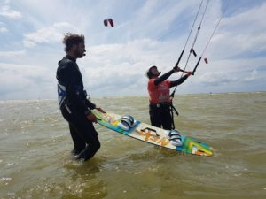 Effectief kitesurfles
